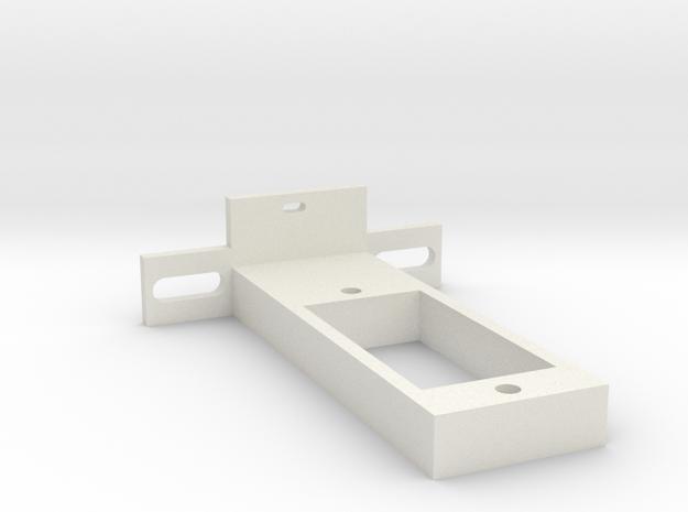 rc-servo mounting kit (for Reely S-0008) in White Natural Versatile Plastic