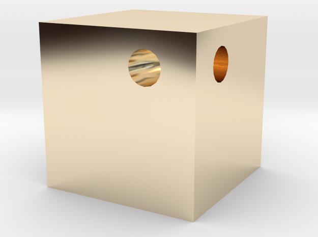 Gold Cube Key-Chain