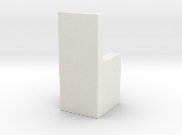 Water Cooler Latch in White Natural Versatile Plastic