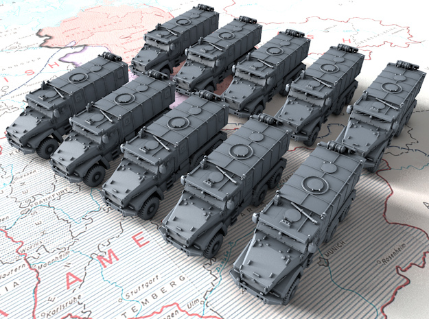 1/600 Russian Ural Typhoon 63095 MRAP x10 in Smoothest Fine Detail Plastic
