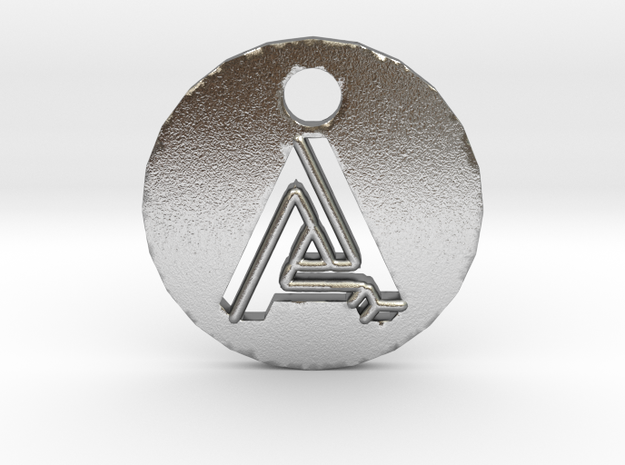 """initial """"A"""" pendant in Natural Silver"""