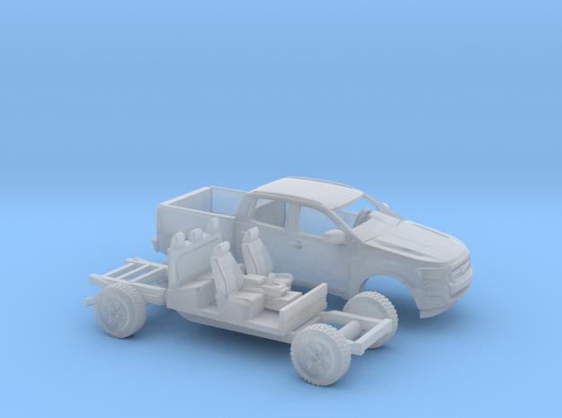 1/87 2015 Ford Ranger Kit in Smooth Fine Detail Plastic