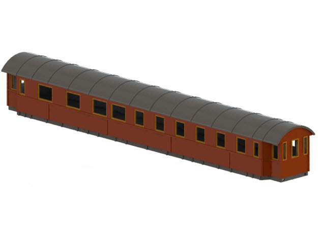 BCo7b - Swedish passenger wagon in White Natural Versatile Plastic