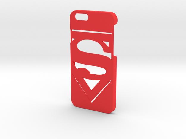 Superman Logo Phone Case-iPhone 6/6s in Red Processed Versatile Plastic