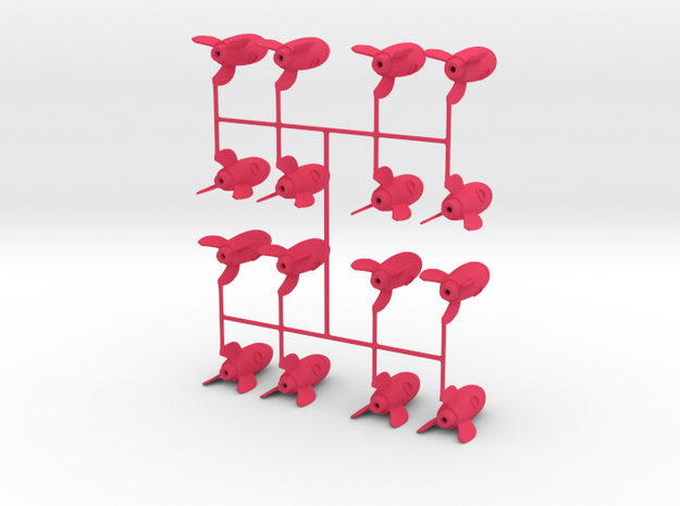 Tiny Rocket 16 Pack in Pink Processed Versatile Plastic