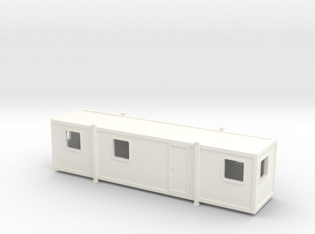 N Scale Site Office 2 in White Processed Versatile Plastic