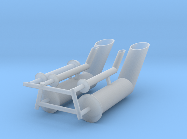 ASD3111 - Exhaust pipes in Smooth Fine Detail Plastic