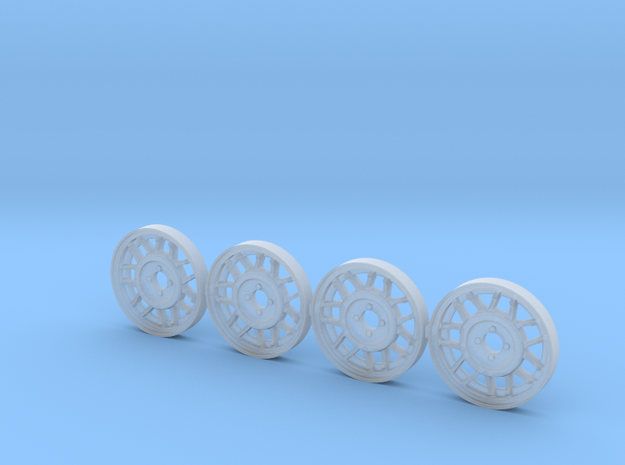 4 tapacubos snowflake 18.1mm diametro in Smoothest Fine Detail Plastic