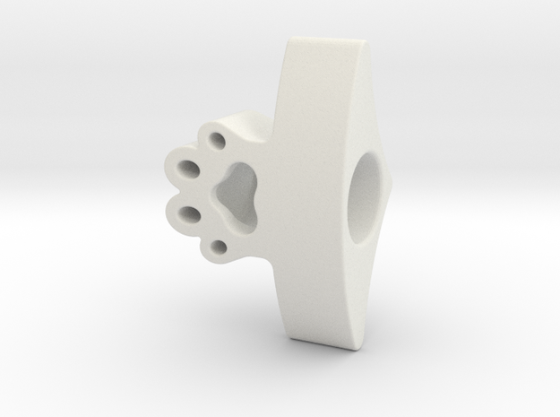 Cat Paw Page Holder in White Natural Versatile Plastic
