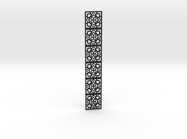Lacy pattern bookmark in Black Natural Versatile Plastic