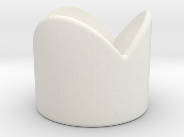 Dice Stand Round in White Natural Versatile Plastic