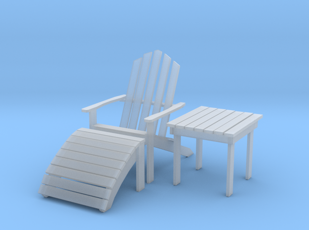 Adirondack Set Cmpt in Smooth Fine Detail Plastic: 1:20