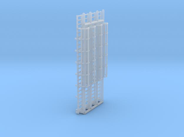 N Scale Cage Ladder 50mm (Platform) in Smooth Fine Detail Plastic