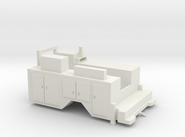 1/64 Service Body single axle in White Natural Versatile Plastic