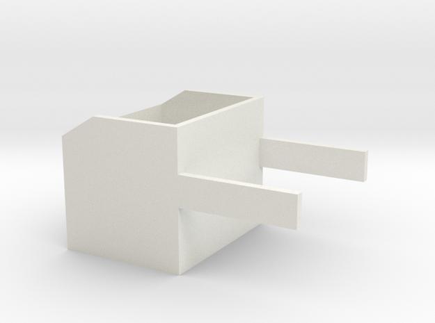 1/16 rock box side mount in White Natural Versatile Plastic: 1:16