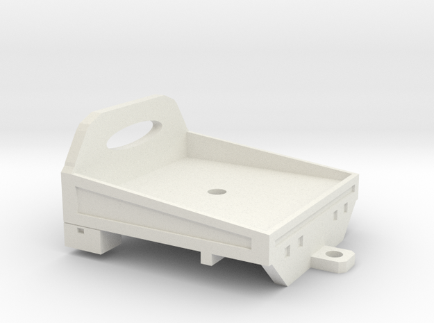 1/64 flatbed - angled sides in White Natural Versatile Plastic