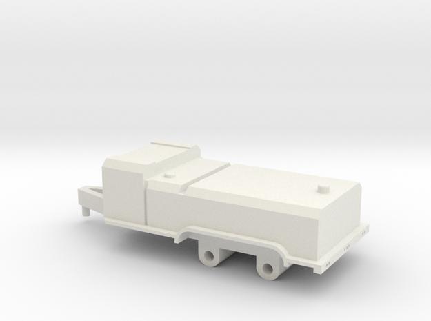 1/64 fuel trailer  in White Natural Versatile Plastic