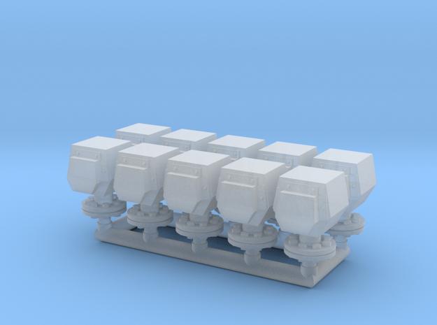 10 ventilation heads - 10 Lüfterköpfe_typ1, 1:50 in Smooth Fine Detail Plastic