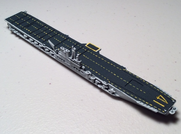 USS Midway 1/1800 3d printed Expertly painted by Variable