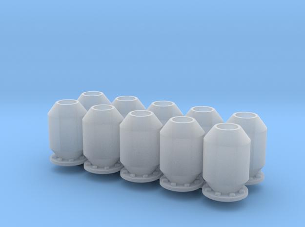 10 silencers, 10 Dämpfer_typ4, 1:50 in Smooth Fine Detail Plastic