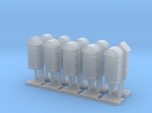 LU isolation cabinets x 10 in Smoothest Fine Detail Plastic