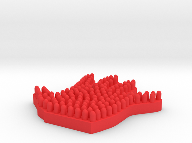 Hand Massager in Red Processed Versatile Plastic