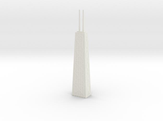 John Hancock Center - Chicago (1:4000) in White Natural Versatile Plastic