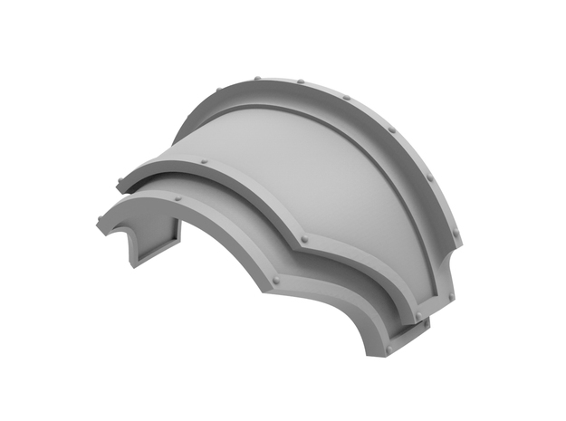Destroyers - Shoulder Pad in Smooth Fine Detail Plastic