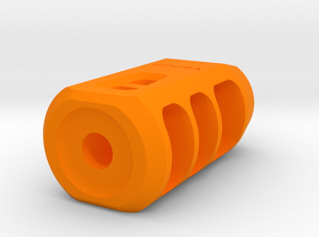 Venom Airsoft Muzzle Brake (14mm Self-Cutting) in Orange Processed Versatile Plastic