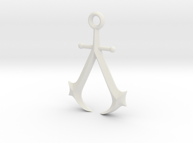 New England Assassin's Emblem in White Premium Strong & Flexible