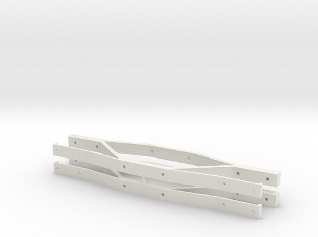 Gauge 3 L&Y Bogie Sideframes in White Natural Versatile Plastic