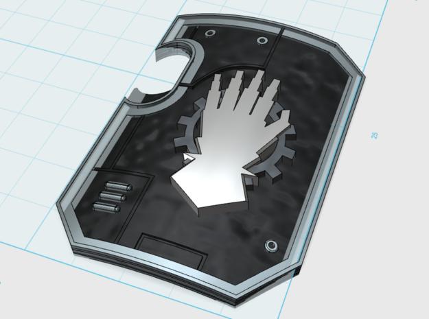 5x Mech Hand Legion: Terminator Thunder Shield in Smooth Fine Detail Plastic