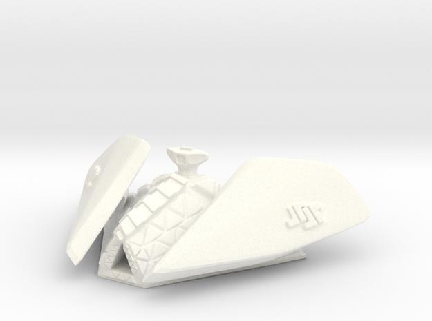 Robotic Carrier in White Processed Versatile Plastic