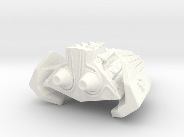 Robotic Dreadnought in White Processed Versatile Plastic