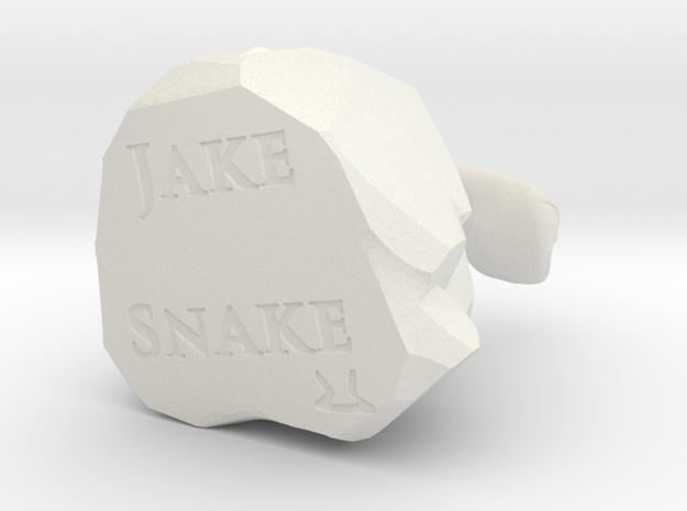 Jake the Snake in White Natural Versatile Plastic