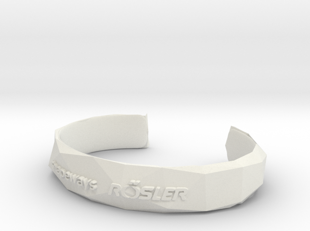 Bracelet Basic small in White Natural Versatile Plastic