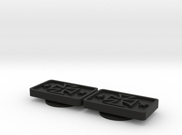 Badge for VW Golf 2 Iron Cross in Black Natural Versatile Plastic