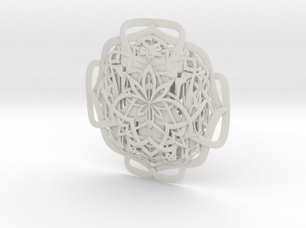 Inca Talisman in White Natural Versatile Plastic