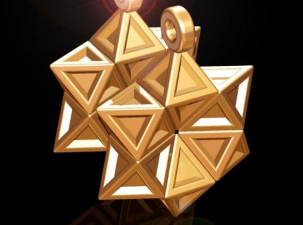 Star of David Earrings 3d printed
