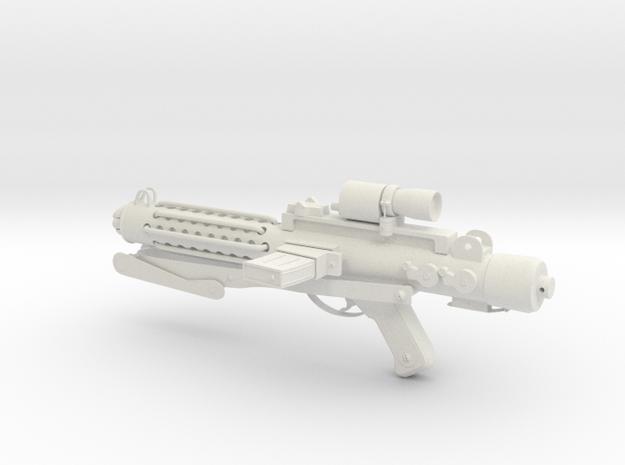 E-11 Stormtrooper Blaster in White Natural Versatile Plastic: 28mm