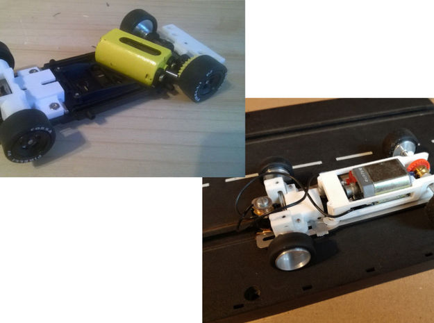 High Front Axle Carrier Slot.it HRS-2 in White Natural Versatile Plastic