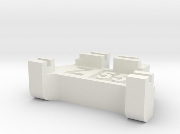 Z Scale Track Gauge - Code 55 in White Natural Versatile Plastic