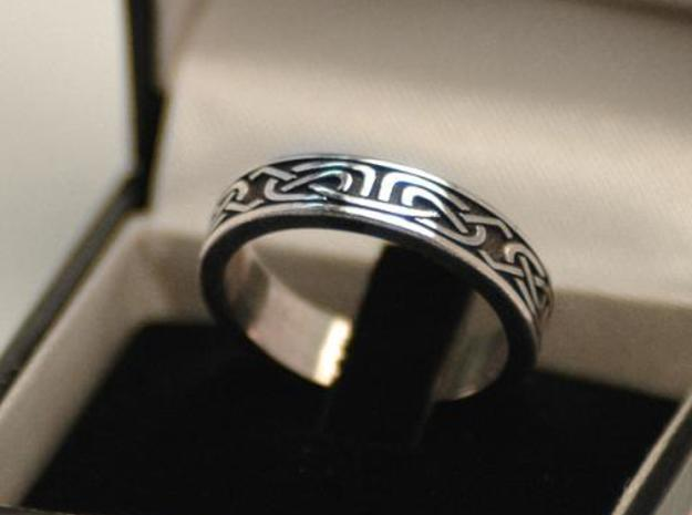 Celtic Ring in Antique Silver