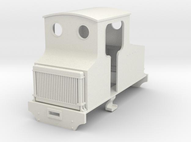 5.5mm WW1 hawthorn Leslie petrol loco in White Natural Versatile Plastic
