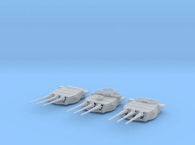 1/600 BB59 16in (410mm) 45 cal Mark 6 guns Set in Smooth Fine Detail Plastic