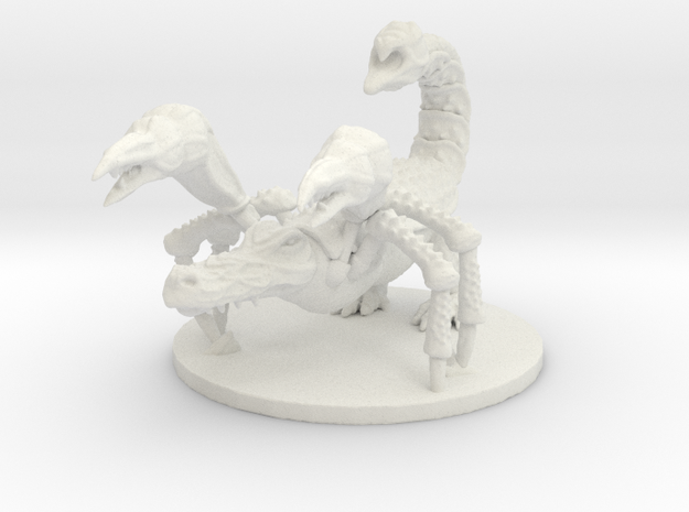 Crocorpion (Large Beast) in White Natural Versatile Plastic