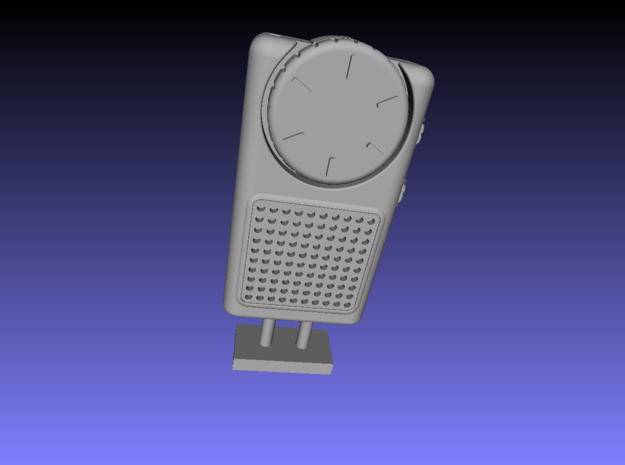 1/6 Scale Pocket Radio in Smooth Fine Detail Plastic