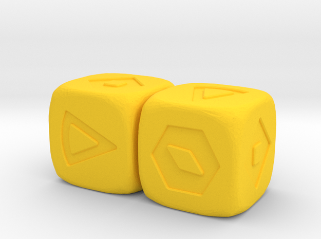 Corellian Spike Sabacc in Yellow Processed Versatile Plastic