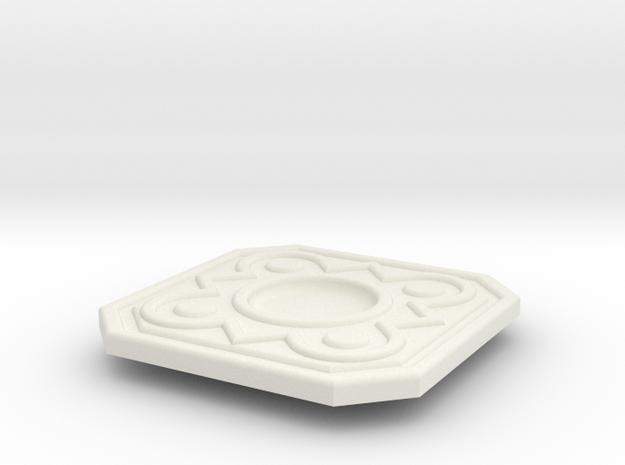Ciri Belt Buckle in White Natural Versatile Plastic