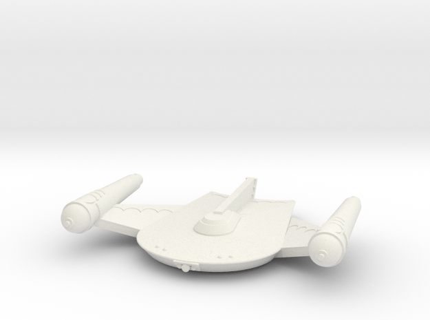 3788 Scale Romulan King Eagle Command Cruiser MGL in White Strong & Flexible